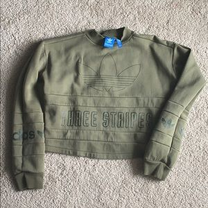 Adidas Originals cropped sweatshirt